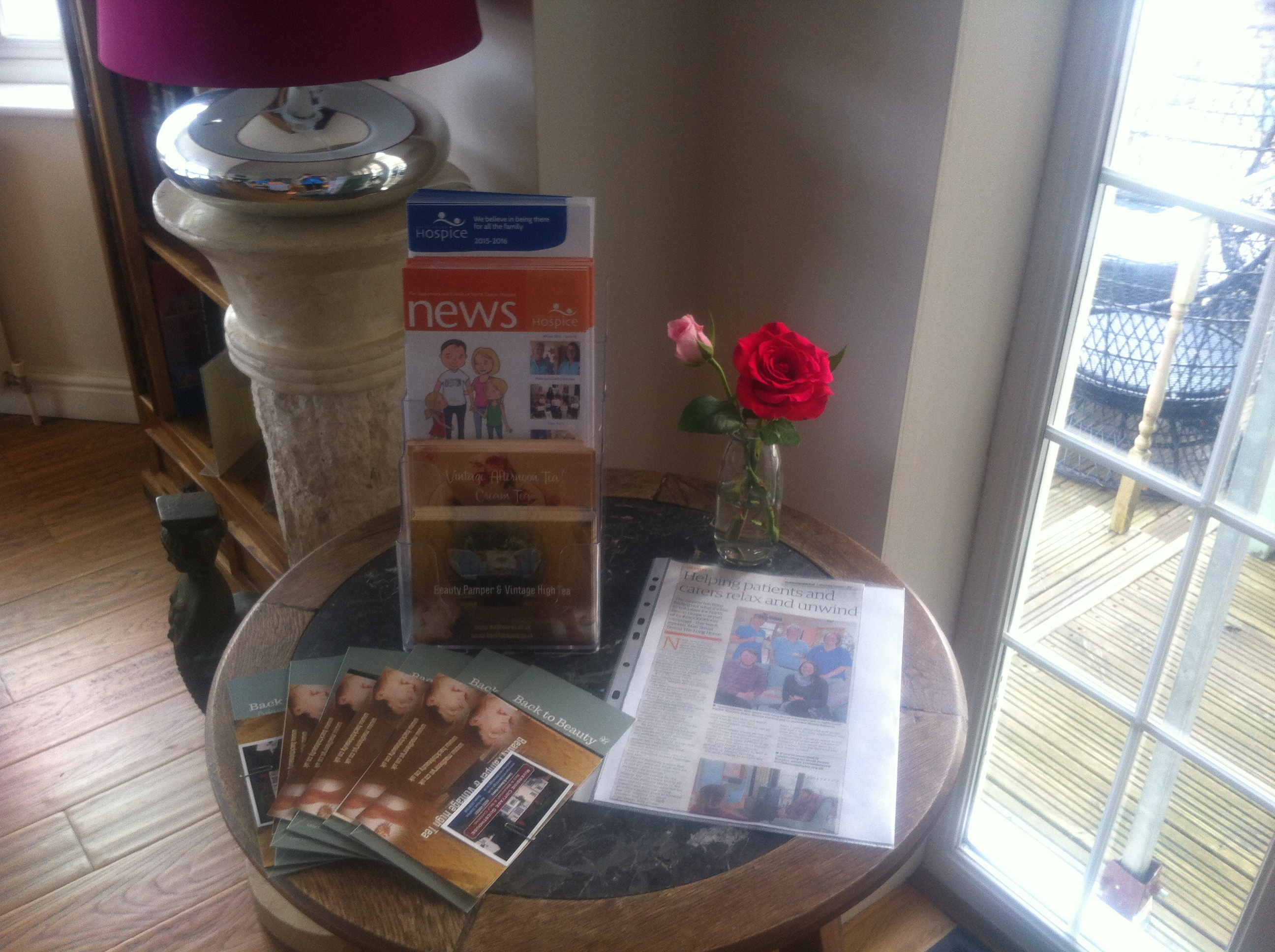 pamper special offers in conjunction with north devon hospice