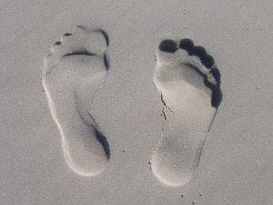 reflexology - footprints in the sand