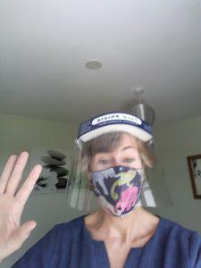 Sarah Butler in PPE