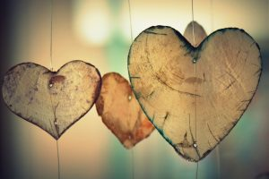 Valentines Day blog by Sarah Butler Therapies - Wooden Hearts