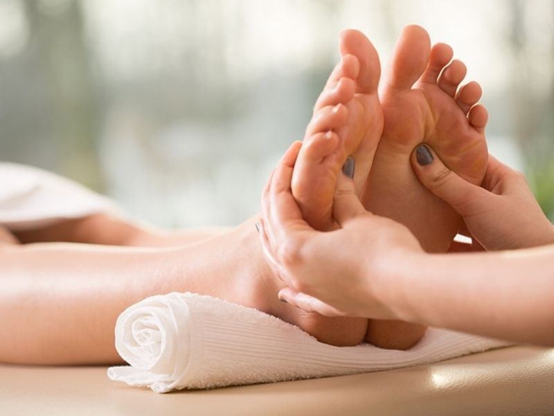 Reflexology is available with Sarah Butler Therapies of Bideford